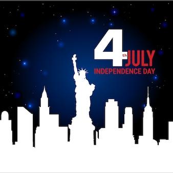 День независимости и эмблема значка с американским флагом