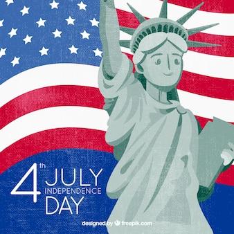 평면 스타일에서 7 월 4 일의 독립 기념일