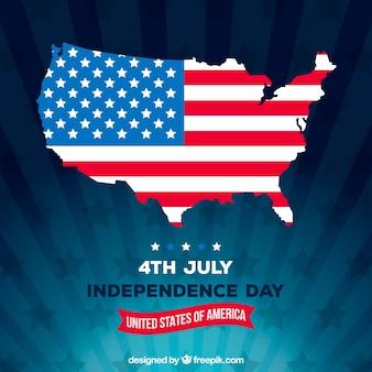 День независимости 4-го июля в плоском стиле