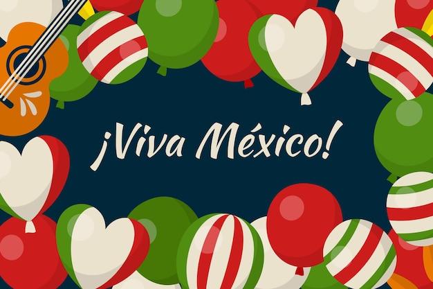 メキシコの独立記念日-バルーンの背景