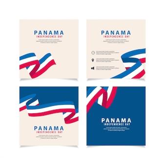 パナマの独立記念日デザインイラストテンプレート。