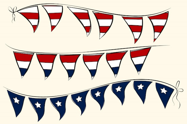 Independence day pennant banners