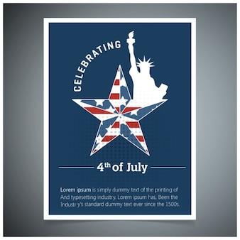 7月4日のポスターを祝います
