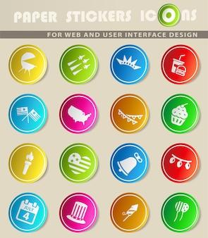 독립 기념일은 웹 아이콘에 대한 단순히 기호