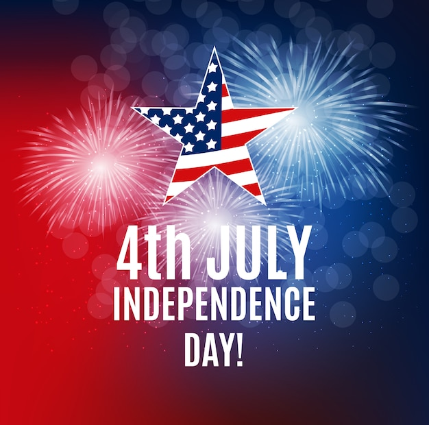 Independence day in usa background. can be used as banner or pos