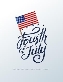 День независимости сша баннер шаблон фон