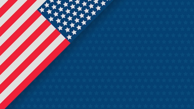Independence day usa celebration banner template