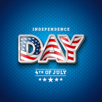 Independence day of the usa vector illustration