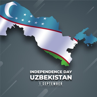 Independence day of uzbekistan concept