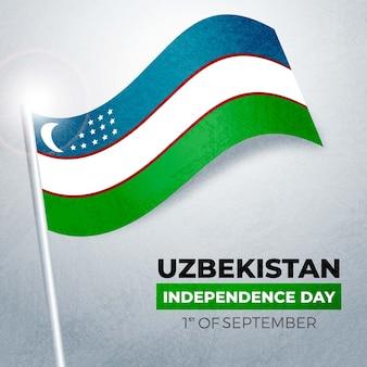 Festa dell'indipendenza del concetto dell'uzbekistan