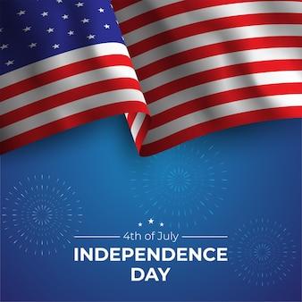 День независимости с флагом сша