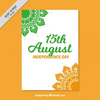 Independence india day, cute poster