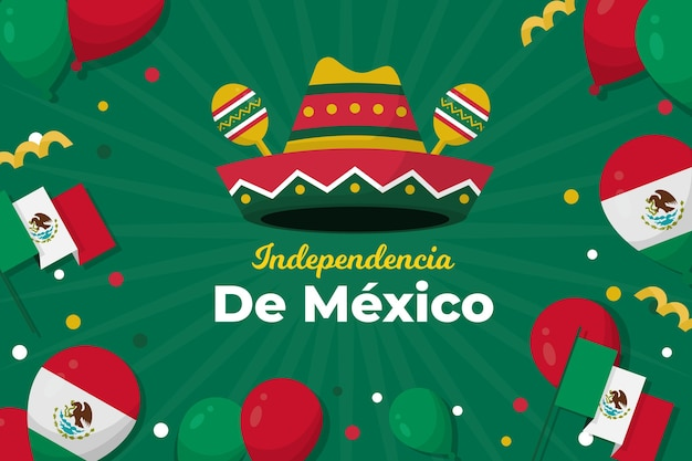 Independencia de méxico balloon background