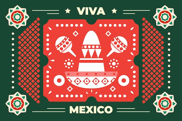 Независимость мексики в бумажном стиле