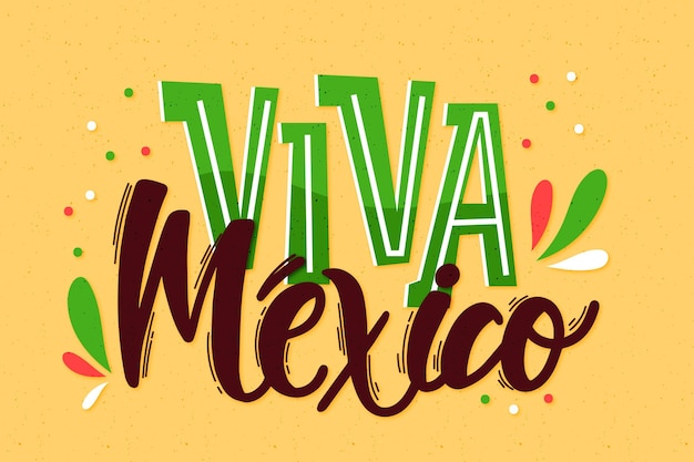 Independencia de mexico lettering