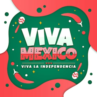 Independencia de méxico in paper style