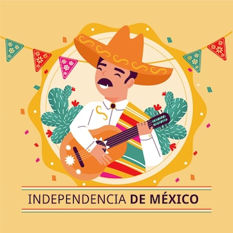 Independencia de méxico with man playing guitar