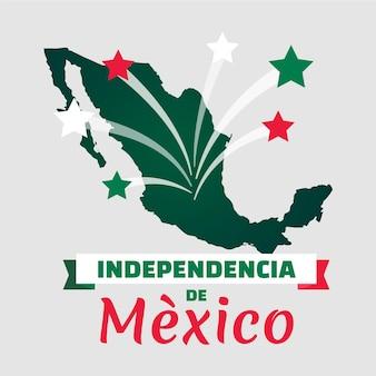 Независимость мексики с картой и звездами