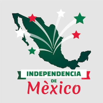 Independencia de méxico with map and stars