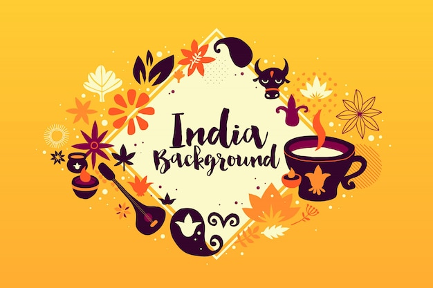 India background/banner template with abstract