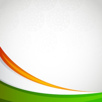 India blank frame card independence day