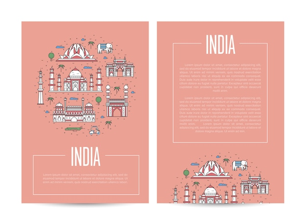 India country traveling poster template