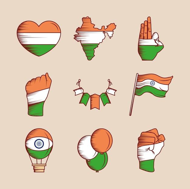 インドの旗が設定されました