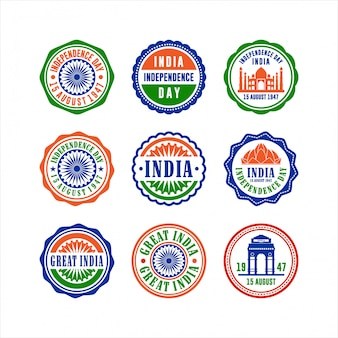 India flat independence day badge collection