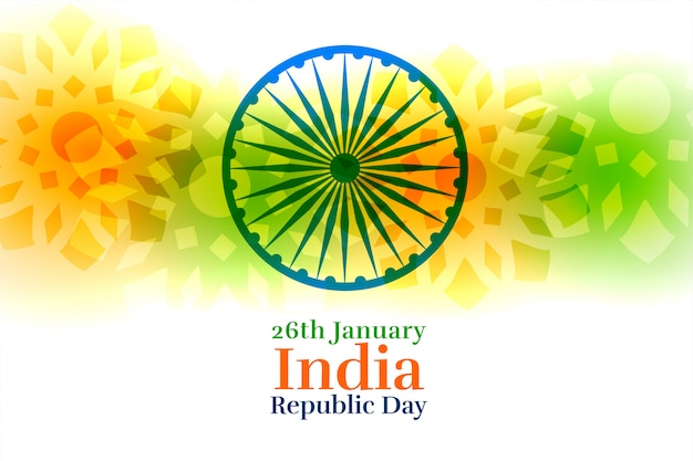 India happy republic day creative background
