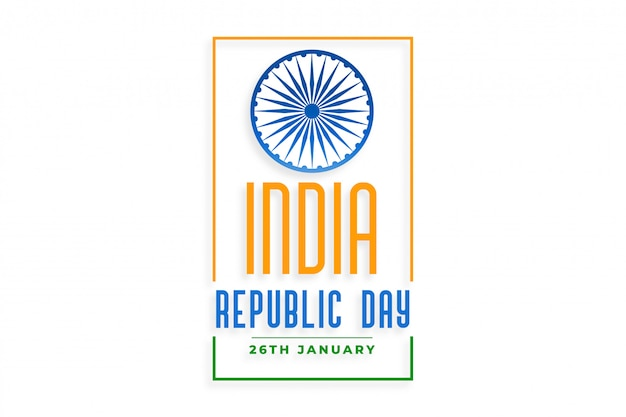 India happy republic day holiday background