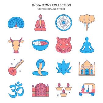 India icons set