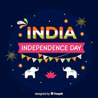 India independence day background in indian art style