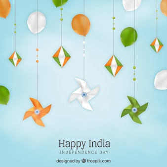 India independence day background in realistic style