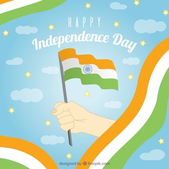 India independence day background with hand