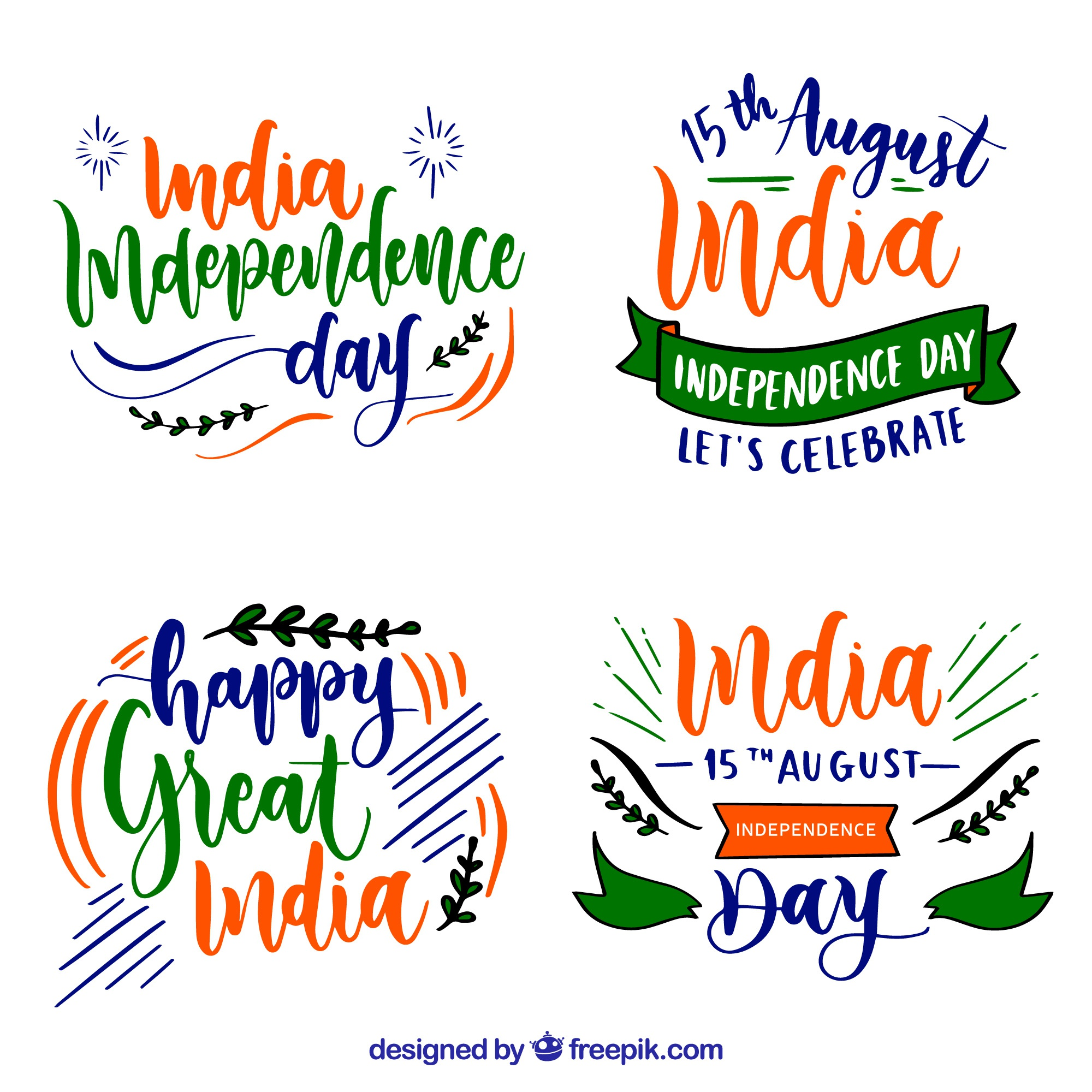 India independence day badges