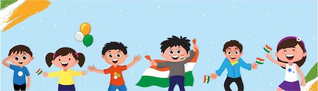 인도 독립 기념일 배너