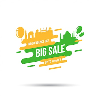 India independence day celebration, independence day big sale with balloon