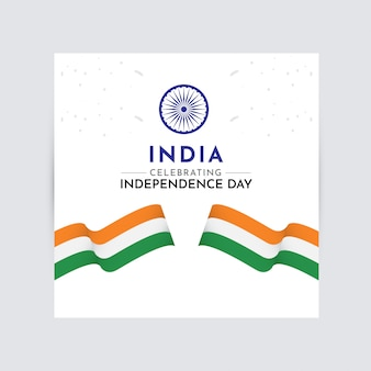 India independence day celebration vector template design logo illustration