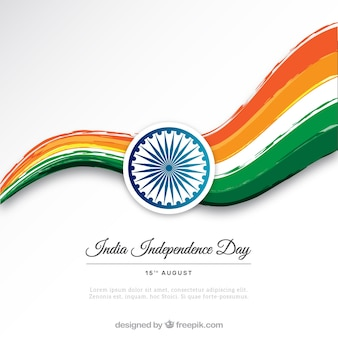India independence day colored background