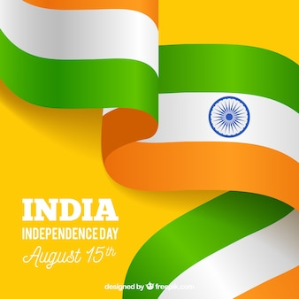 India independence day composition with realistic flag