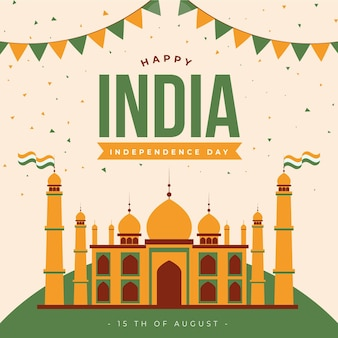 インド独立記念日イラスト