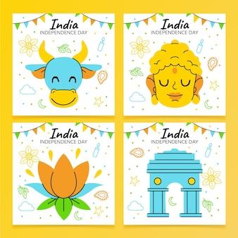 인도 독립 기념일 인스 타 그램 게시물 모음