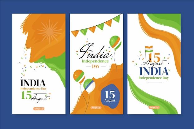 Коллекция историй instagram день независимости индии