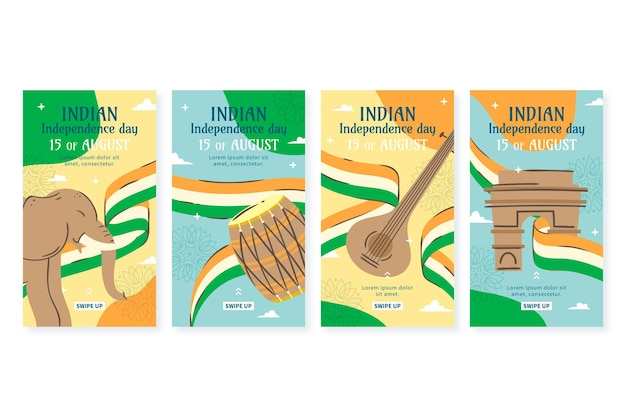 India independence day instagram stories collection