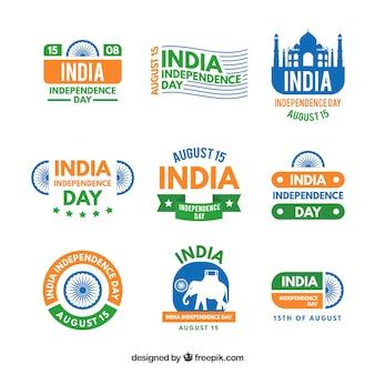 インド独立記念日ラベル収集