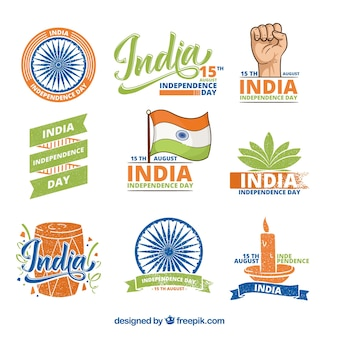 India independence day label set
