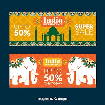 India independence day sale banners