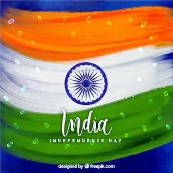 India independence day watercolor background