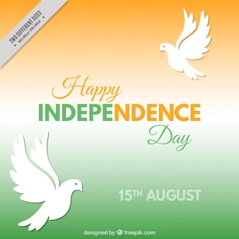 India independence day with doves background