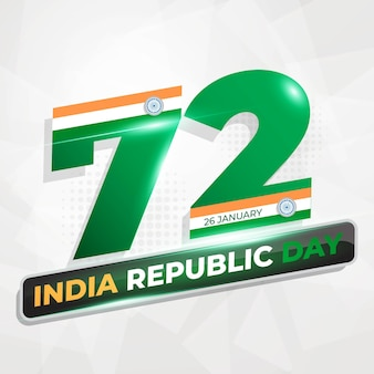 India republic day  banner or background template